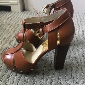 Michael Kors block heel with ankle strap